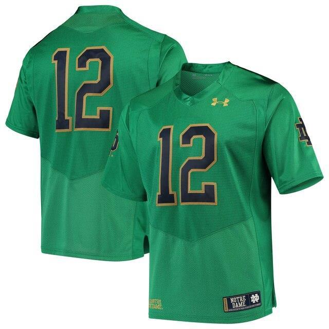 【送料無料キャンペーン?】 Under Armour アンダー アーマー スポーツ用品 Under Armour #12 Notre Dame Fighting Irish Green Premier Football Jersey, せんたく日和 5da1f0ad