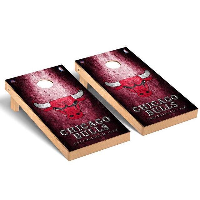 【着後レビューで 送料無料】 Victory Tailgate ビクトリー テイルゲート スポーツ用品 Chicago Bulls Metal Design Cornhole Game Set, コンタクトのLENS UP 51361225