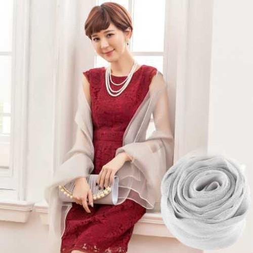 全6色 ラメスカーフ ドレス 小物 イブニングドレス ショール 透け感 シースルー セクシー 大人 上品 エレガント 春 秋 レディース 小物