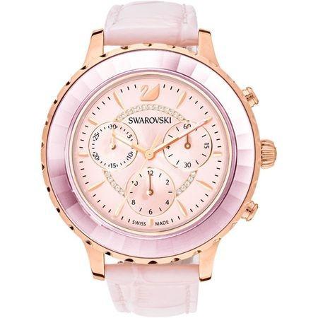 第一ネット スワロフスキー Swarovski 腕時計 ライトピンク OCTEA LUX CHRONO ウォッチ 5452501, GEO style 029070da