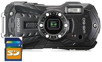 【祝開店!大放出セール開催中】 WG-60BK WG-60 【送料無料】リコー RICOH 耐寒 耐衝撃 アウトドア デジカメ 防塵 WG-50の後継 ブラック【***特別価格***】【リコー 防水-カメラ