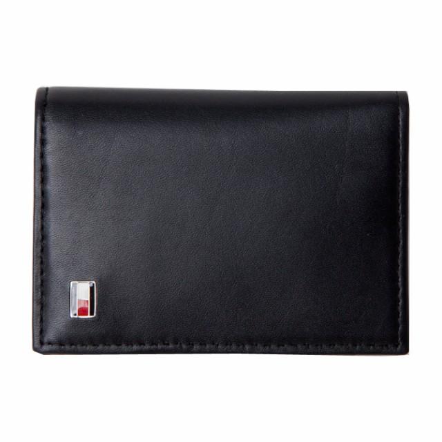 トミーヒルフィガー 財布 メンズ TOMMY HILFIGER OXFORD ロゴプレート レザー名刺入れ カードケース 31tl20x011