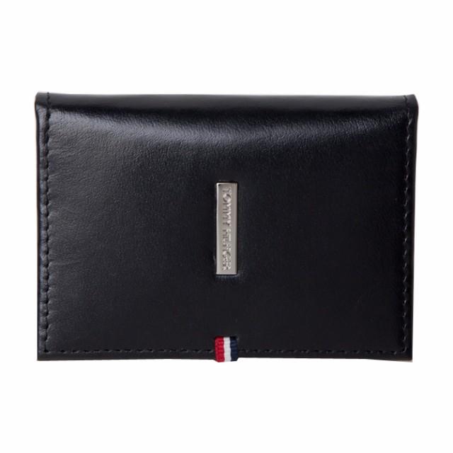 トミーヒルフィガー 財布 メンズ TOMMY HILFIGER ロゴプレート レザー名刺入れ カードケース 31tl20x020