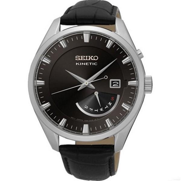 クラシック 【逆輸入SEIKO】セイコー SEIKO キネティック クオーツ メンズ 腕時計 SRN045P2 ブラック, 35歳からのパール 松本宝飾 9a03f437