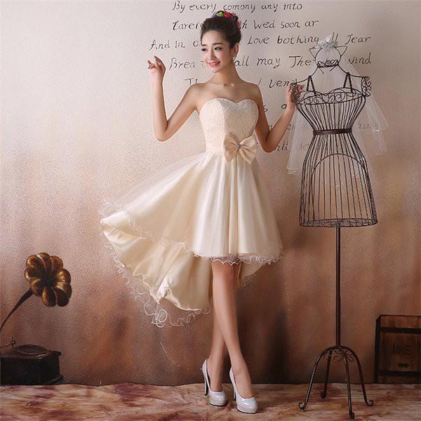 ウエディングドレス グレー 花嫁 ドレス 結婚式 二次会 ミニドレス お呼ばれ 結婚式 ドレス 20代 30代