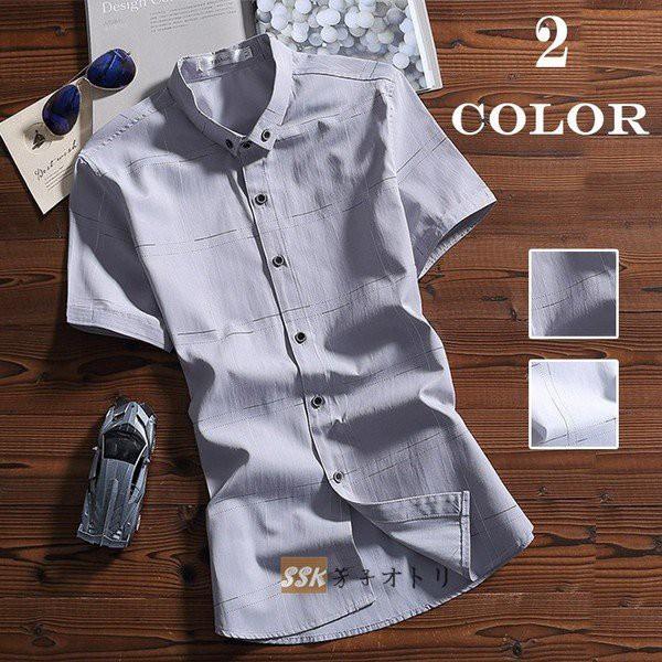 半袖シャツ チエックシャツ 開襟シャツ トップス ボタンダダウン メンズ シャツ 半袖 チエック柄 涼しい ワイシャツ 夏