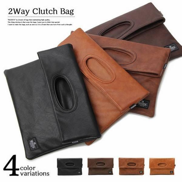 バッグ・財布 バッグ クラッチバッグ 2WAY PUレザークラッチバッグ シンセティック レザー ハンドバッグ