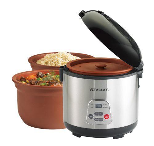 豪奢な VitaClay VF7700-6 Chef Gourmet 6-Cup Rice and Slow Cooker by VitaClay(良品), デザイン照明のCROIX 63e234af