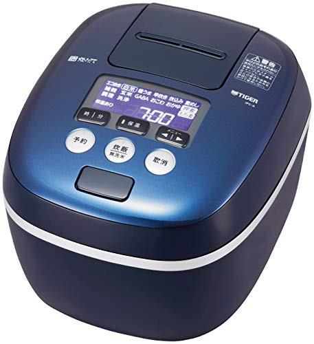 ー品販売  圧力IH式 ブルーブラック JPC-A101-KA(良品) タイガー 炊きたて 炊飯器 5.5合炊き-キッチン家電