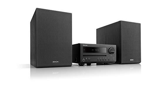 正規品販売! ブラック(良品) CDレシーバーシステム D-T1 DENON CD/FM/AMラジオ/Bluetooth対応-オーディオ