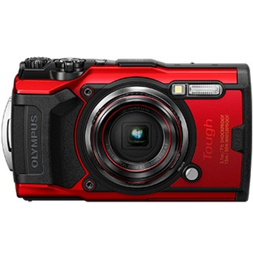 多様な Tough デジタルカメラ TG-6RED TG-6 OLYMPUS (レッド)-カメラ