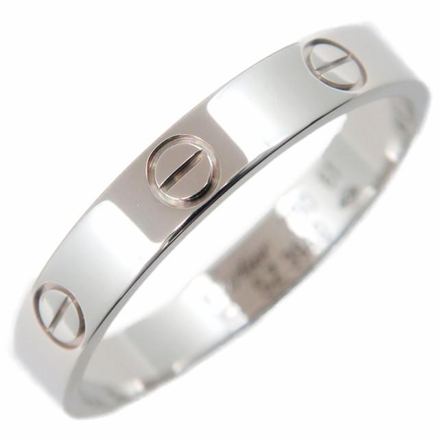 【メーカー包装済】 #61(20.5号) 【 Cartier 指輪 ブランド 750WG カルティエ アクセサリー カルチェ ジュエリー K18WG ホワイトゴールド ミニラブリング-指輪・リング