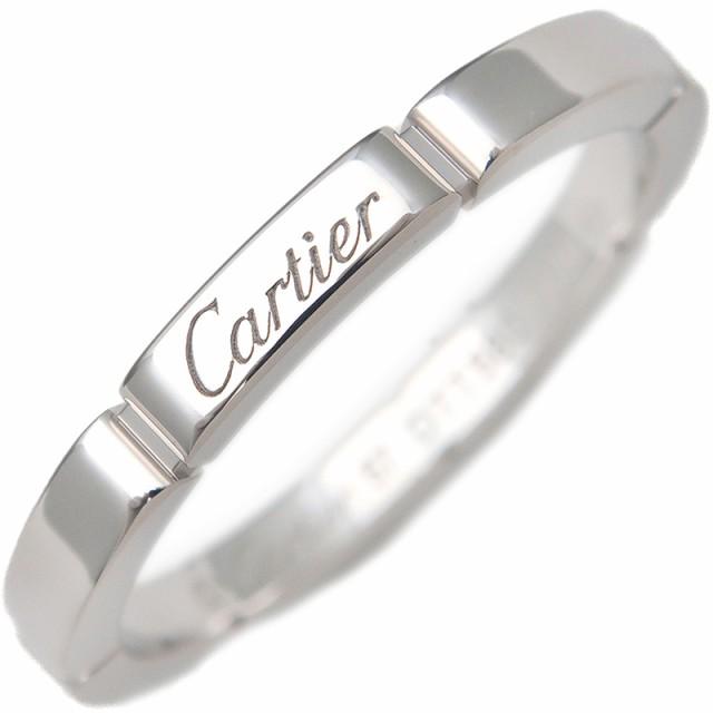 良質  アクセサリー カルチェ 750WG K18WG ジュエリー ブランド #57(16.5号) ホワイトゴールド カルティエ マイヨンパンテール Cartier リング-指輪・リング