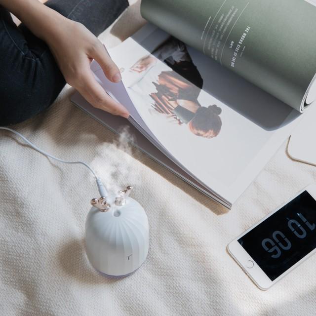 加湿器 卓上 小型 USB 超音波 【 選べる2色 】LED ...