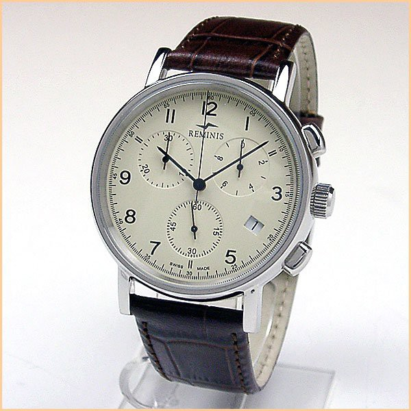 大特価!! クロノグラフ R7F103 REMINIS レミニス-腕時計用パーツ