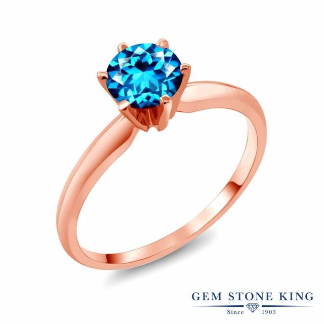 新作モデル 指輪 リング リング レディース 1カラット 天然石 一粒 カシミアブルートパーズ (スワロフスキー レディース 天然石シリーズ) 14金 ピンクゴールド(K14) 一粒 大, ウラガワラムラ:96905402 --- 1gc.de