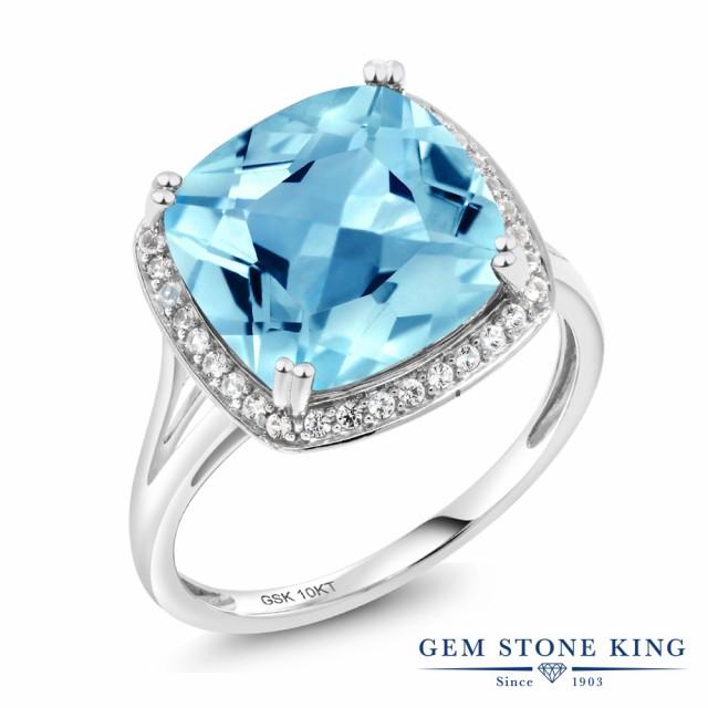 新しいエルメス 指輪 スクエア リング レディース 8.54カラット 天然 スイスブルートパーズ ダイヤモンド 10金 ホワイトゴールド(K10) ヘイロー ダイヤモンド スクエア ヘイロー 大粒 大, ジョーカーJOKER:3040b5fc --- net-fair.de