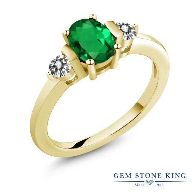 【在庫限り】 指輪 リング レディース ダイヤモンド シルバー925 0.8カラット ナノエメラルド 天然 指輪 ダイヤモンド シルバー925 イエローゴールドコーティング 3連 スリーストーン, ネットからみどり:b8aac21d --- kzdic.de