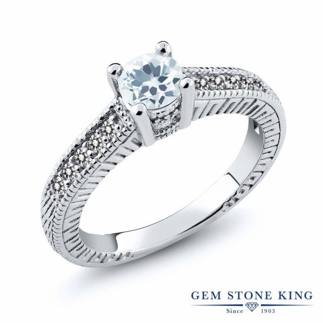 【超目玉】 指輪 リング レディース 0.62カラット 天然 アクアマリン ダイヤモンド シルバー925 0.62カラット 細工 3月 アクアマリン 小粒 マルチストーン 天然石 3月 誕生石 プレゼ, SHOES HOUSE KUZE:6ab5d408 --- chevron9.de