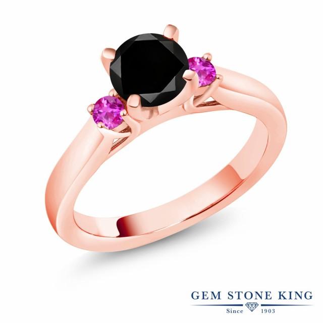 【爆売り!】 指輪 1.31カラット リング レディース 1.31カラット シルバー925 天然ブラックダイヤモンド 指輪 ピンクサファイア シルバー925 ピンクゴールドコーティング スリースト, うまいっす:5c372ed7 --- net-fair.de