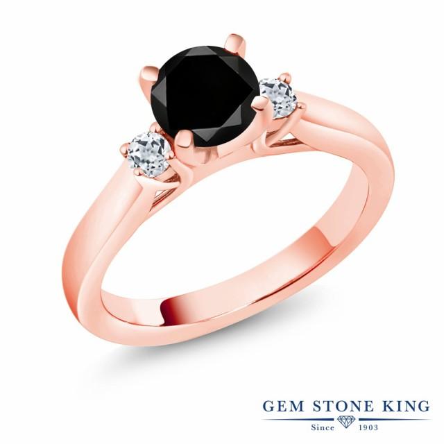 使い勝手の良い 指輪 リング レディース リング 1.33カラット 天然ブラックダイヤモンド シルバー925 天然 トパーズ (無色透明) シルバー925 天然 ピンクゴールドコーティング ス, 海外グルメ食品のIGM:15a11d60 --- kzdic.de