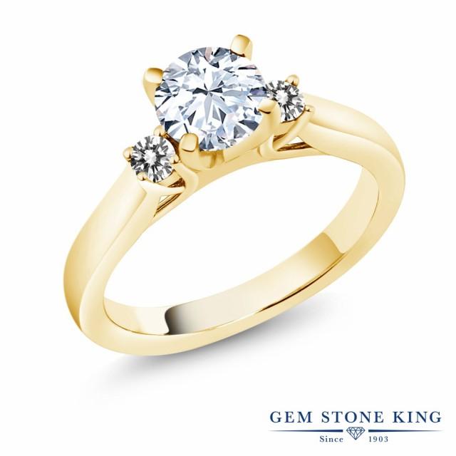 素晴らしい品質 指輪 ダイヤモンド リング レディース 1.4カラット 合成ホワイトサファイア 天然 ダイヤモンド シルバー925 イエローゴールドコーティング 1.4カラット シルバー925 スリースト, 自家製ジャム ハウスサンアントン:1fd601c7 --- kzdic.de