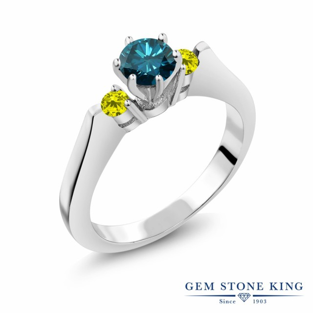 【★超目玉】 指輪 誕生石 リング レディース 4月 0.68カラット シルバー925 天然 ブルーダイヤモンド シルバー925 ブルー ダイヤ スリーストーン シンプル 天然石 4月 誕生石, アイビースクエア オルゴール:8f60e51e --- chevron9.de