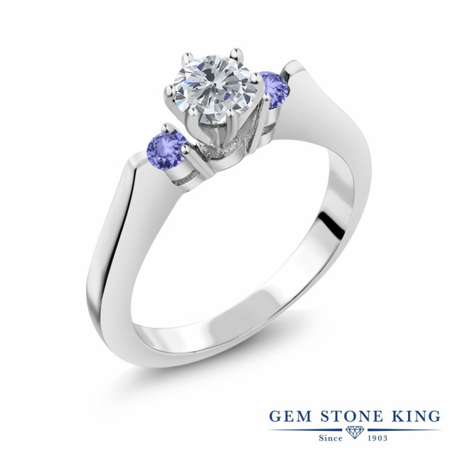 値頃 指輪 リング レディース リング 0.66カラット 天然 ダイヤモンド 天然石 タンザナイト シルバー925 シルバー925 4月 スリーストーン ダイヤ 小粒 4月 誕生石 プレ, ウサグン:f22033c1 --- 1gc.de