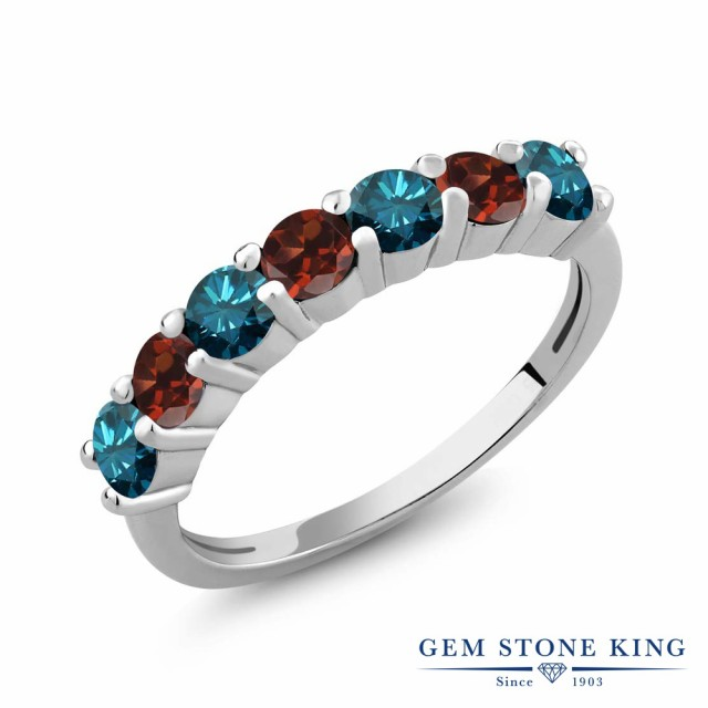 超歓迎 指輪 1.2カラット リング レディース 1.2カラット 天然 リング ブルーダイヤモンド ガーネット 誕生石 シルバー925 ブルー ダイヤ 小粒 バンド 天然石 4月 誕生石 プ, エフタイム:a96535dc --- kzdic.de