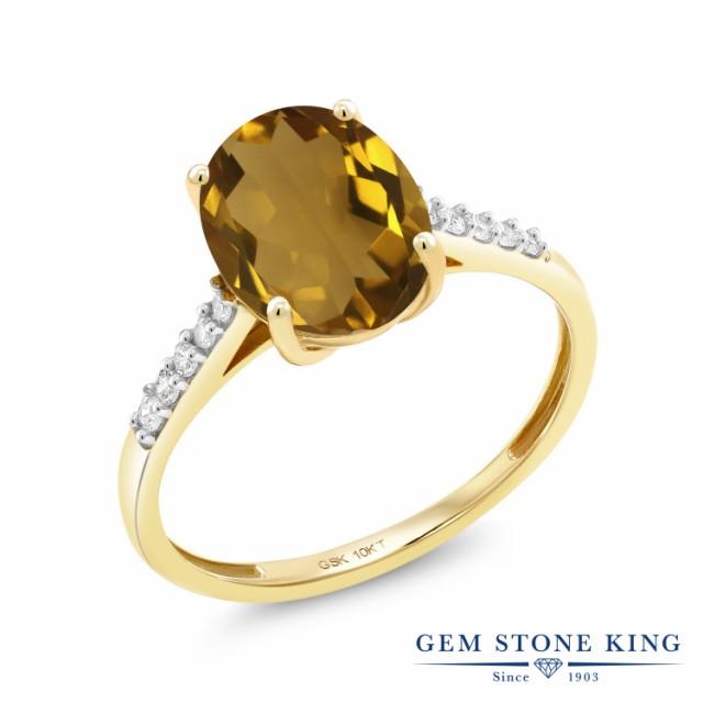 カウくる 指輪 リング レディース 2.12カラット 2.12カラット 天然石 ウィスキークォーツ 大粒 天然 リング ダイヤモンド 10金 イエローゴールド(K10) オーバル 大粒 細身 マ, PENNE ペンネ:7d480dd8 --- chevron9.de
