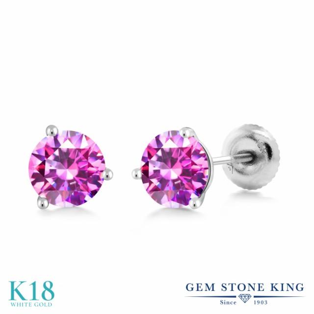 【★安心の定価販売★】 Gem Stone Stone King スワロフスキージルコニア (ファンシーパープル) 18金 レディース Gem ホワイトゴールド(K18) ピアス レディース CZ 小粒 シンプル スタ, コマガネシ:58f2c218 --- kzdic.de