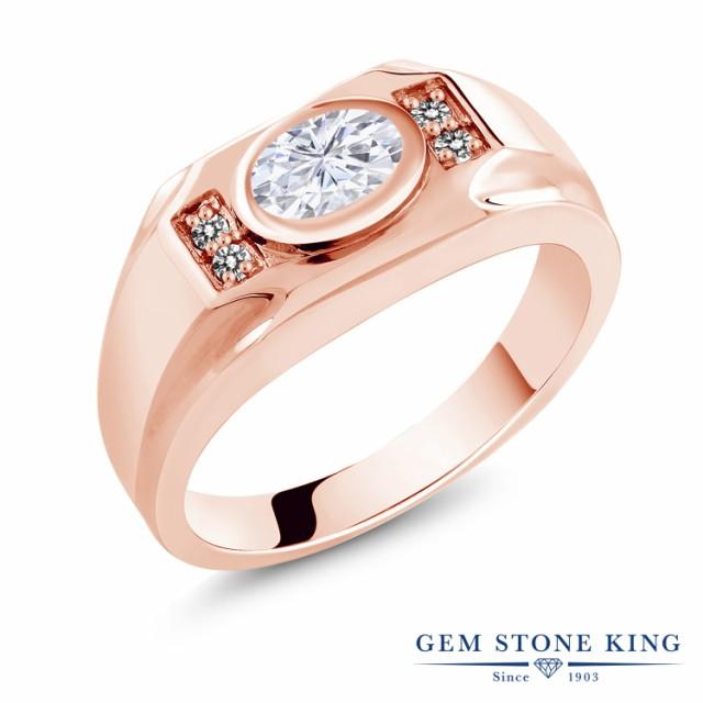【50%OFF】 & Brilliant Forever 指輪 モアサナイト ダイヤモンド Colvard ピンクゴール レディース 天然 リング Charles シルバー925 1.63カラット-指輪・リング