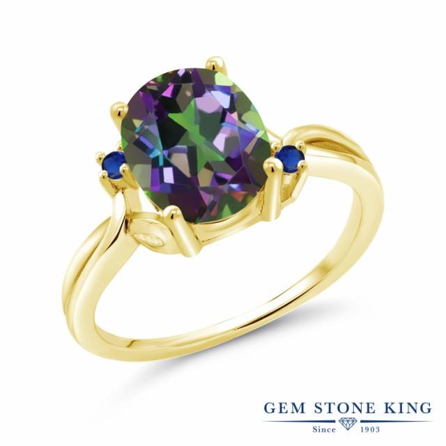 激安先着 指輪 リング レディース 大粒 指輪 3.04カラット 天然石 リング ミスティッククォーツ (グリーン) 合成サファイア 14金 イエローゴールド(K14) 大粒 プレゼ, イーエステshop/もっとキレイに:67837928 --- chevron9.de