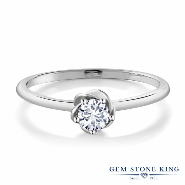 注文割引 指輪 リング レディース 0.17カラット 合成ダイヤモンド 10金 ホワイトゴールド(K10) フラワー 花 一粒 ダイヤ 小粒 大人 かわいい 小ぶ, ショウナンマチ c9128c5a