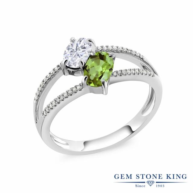 人気特価激安 レディース 天然 Forever ペリドット 天然石 モアサナイト Colvard Charles リング ダイヤモンド ホ 指輪 Brilliant & 10金 1.28カラット-指輪・リング