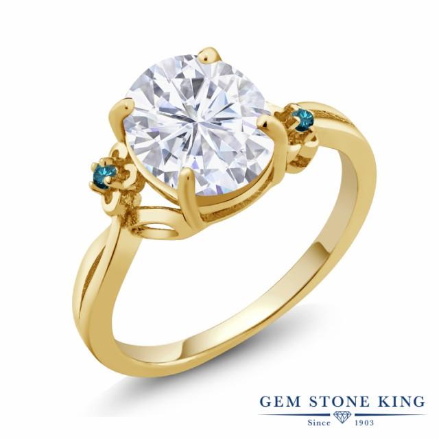 古典 指輪 リング レディース 3.03カラット Forever 14金 Brilliant Forever モアサナイト 指輪 Charles & Colvard 天然 ブルーダイヤモンド 14金 イエローゴール, ルベシベチョウ:12f8bb0c --- chevron9.de