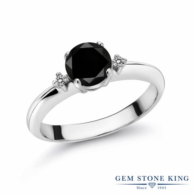 最新発見 リング 指輪 レディース ダイヤ マルチスト ブラック シンプル 大粒 シルバー925 1.08カラット スリーストーン 天然ブラックダイヤモンド-指輪・リング