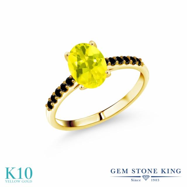 専門店では 指輪 リング レディース 1.76カラット 天然石 ミスティックトパーズ (イエロー) 天然ブラックダイヤモンド 10金 イエローゴールド(K10), IBELL アイベル 02d1e148