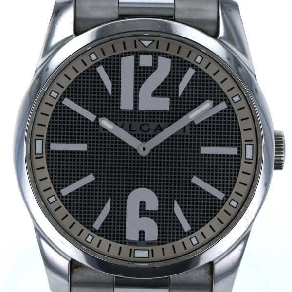 海外並行輸入正規品 ブルガリ 【iw】【】 2針式 ソロテンポ グレー ST42S メンズ BVLGARI ビッグフェイス クオーツ 文字盤 腕時計-腕時計メンズ