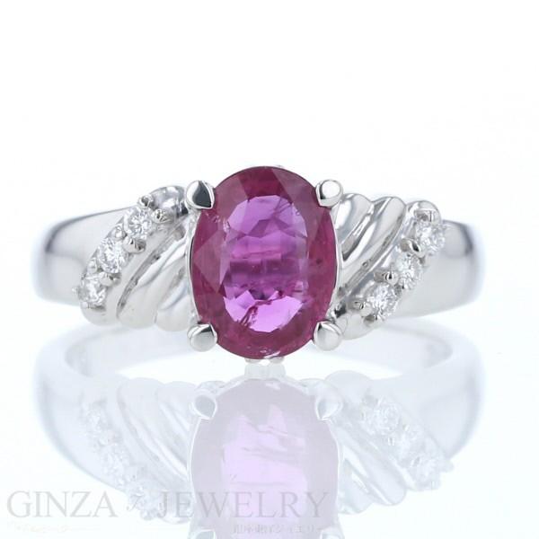 新しい到着 デザイン ルビー 指輪 0.06ct リング Pt900 1.416ct ダイヤモンド 12号【新品仕上げ済】【zz】【】 ソーティング付 プラチナ-指輪・リング