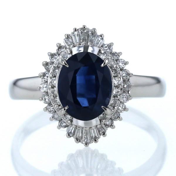 品質は非常に良い Pt900 2.36ct プラチナ リング ブルーサファイア 2.36ct ダイヤモンド ダイヤモンド PAY 0.40ct 取り巻き 大きめ 指輪 17.5号【新品仕上済】【zz】【】, 100%本物:6c93edbe --- stiag.org.br