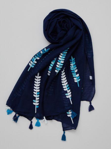 【SALE】倭物やカヤ 公式 《しだ刺繍ストール》 和柄 和モダン ファッション雑貨 ショール/ストール 7CJP8603