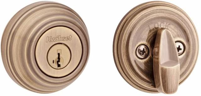 【在庫処分】 クイックセット シングルシリンダーデッドボルト Kwikset 99800-097 ドアロック, ASA エーエスエー 2bd9ba7e