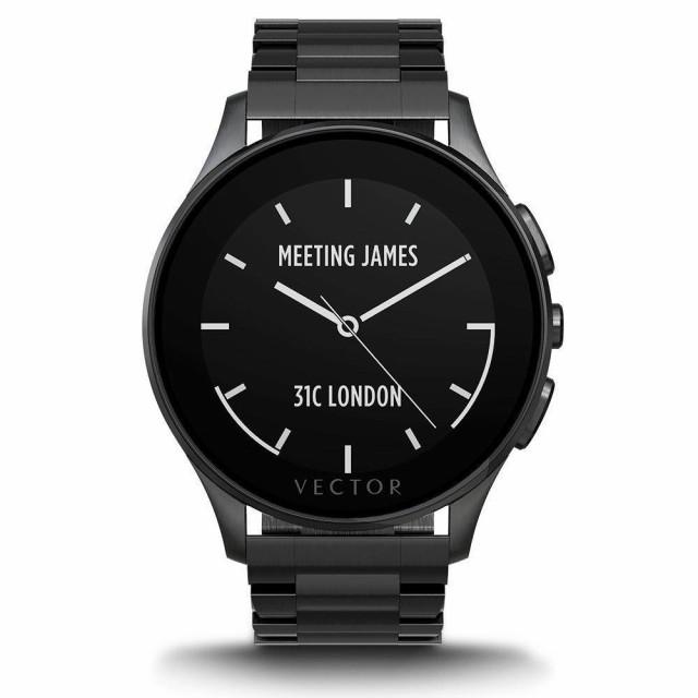 高価値 Luna-Brushed - - Smartwatch Black 並行輸入品 for Bracelet Retail Black Packaging IP-ウェアラブルデバイス