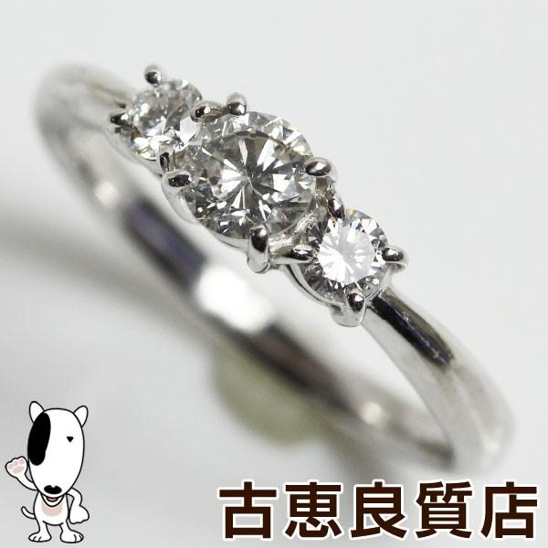 【予約受付中】 MR1371【】 Pt プラチナ リング 指輪 Pt900 D.0.52ct 3.9g サイズ11.5号 3粒ダイヤ ダイヤモンド リング【質屋出品】, d-ポケット 174288af