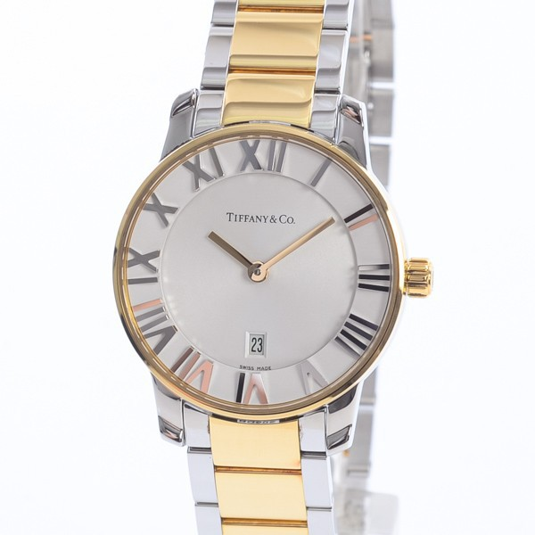 激安本物 ティファニー レディース腕時計 アトラス Z1830.11.15A21A00A ステンレスxイエローゴールド A品 1404030_元町本店, prettyANGEL fb7777d5