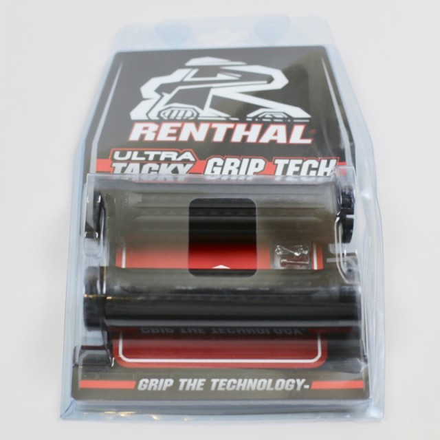 RENTHAL TRACTION ULTRA TACKY BLACK LOCK-ON MTB BICYCLE GRIPS