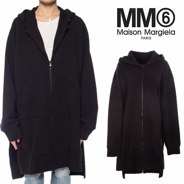 (訳ありセール 格安) オーバーサイズ HOODIE メゾンマルジェラ MARGIELA ジップアップパーカー エムエムシックス MM6 ドロップショルダー スウェット MAISON-トップス