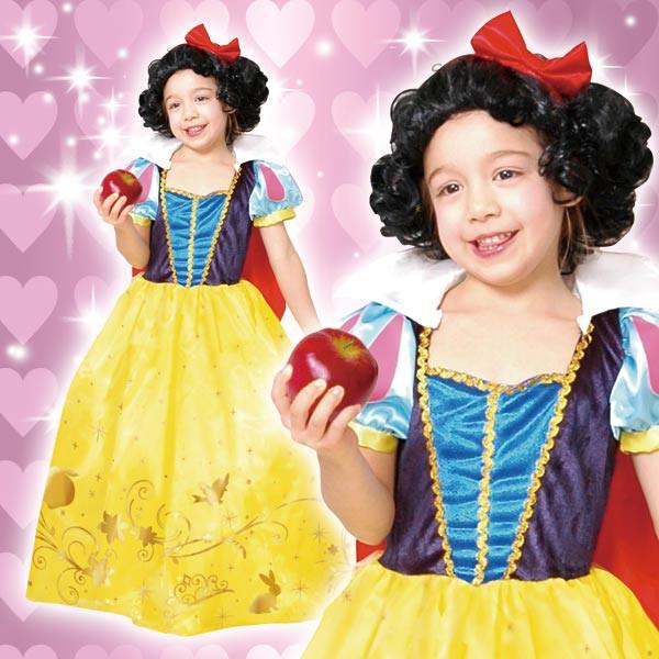 ディズニー 白雪姫 コスチューム 子供 女の子用 トドラーサイズ プリンセス ウィッグ付 仮装 ハロウィン
