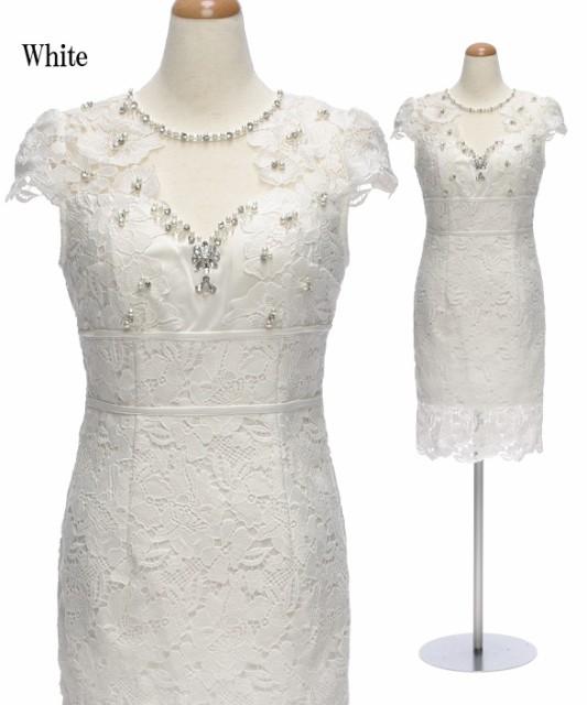 a9241260600c6 DIOH ディオ シースルーレース パールビジュー装飾 オープンデコルテ ワンピース ドレス   送料無料
